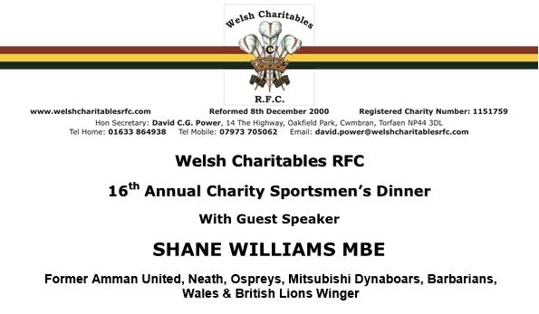 Welsh Charitables Sportmans Dinner